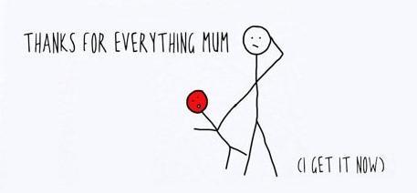 Thanks for everything mum